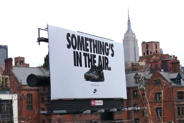 Nike Somethings in the air billboard NYC