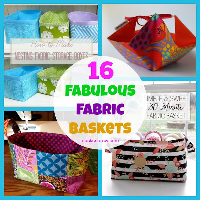 free patterns, diy baskets, storage, bins, pods, crafts, quilting