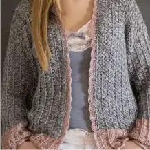 Cardigan Air Lux a Crochet