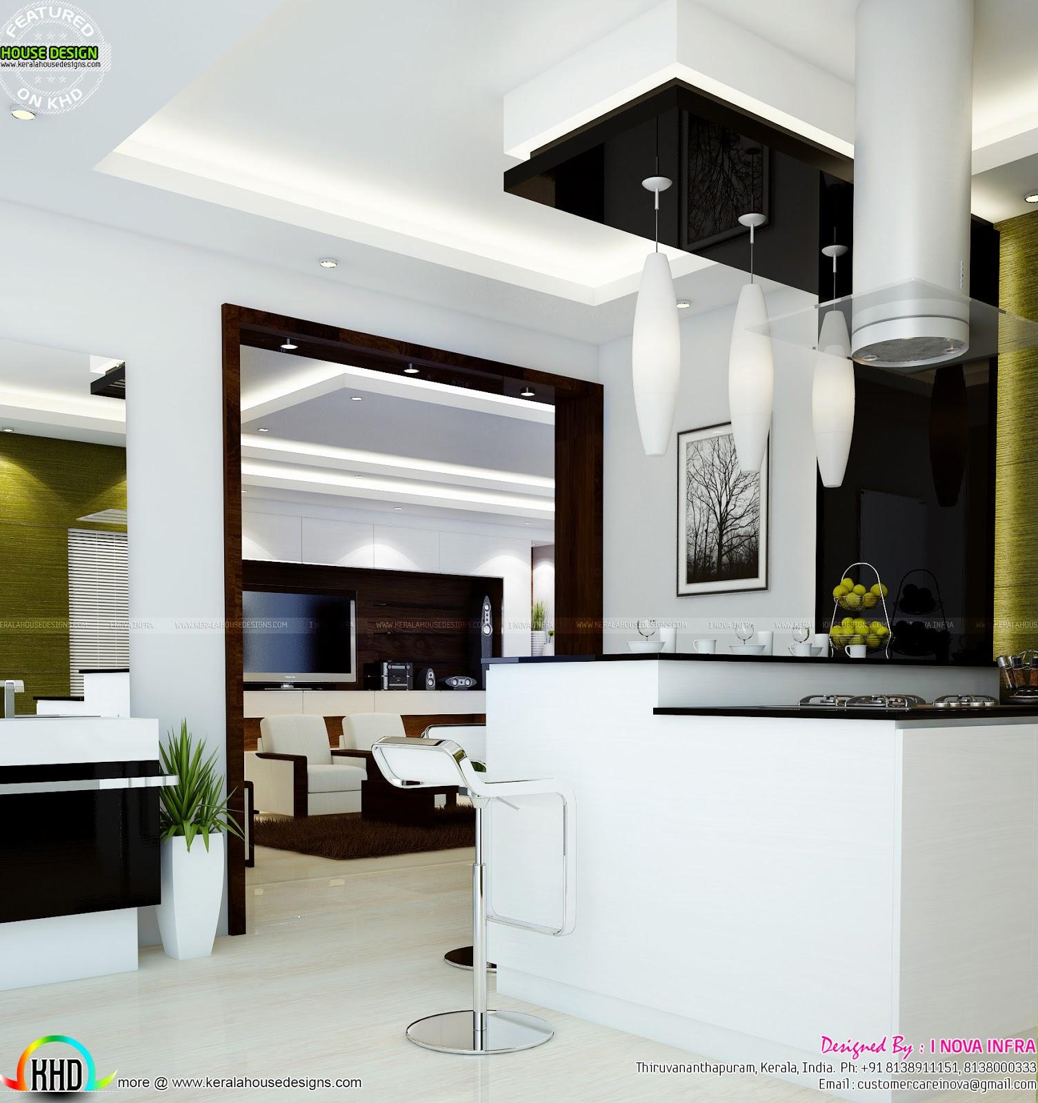interior design for open kitchen
