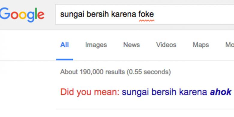 """Viral!!! Cari di Google """"Sungai di Jakarta Bersih karena Foke"""", Keluarnya..."""