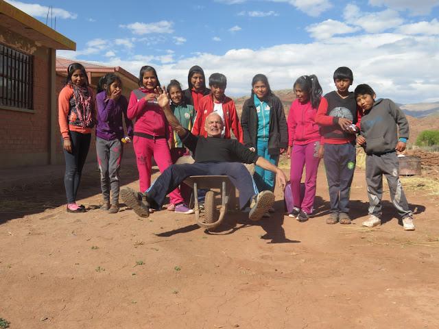 Erstkommunionvorbereitung in Mojinete Bolivien