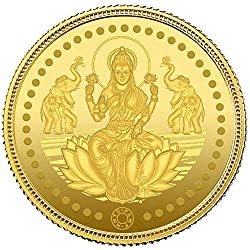 24k (999) Goddess Lakshmi 2 gm Yellow Gold Coin