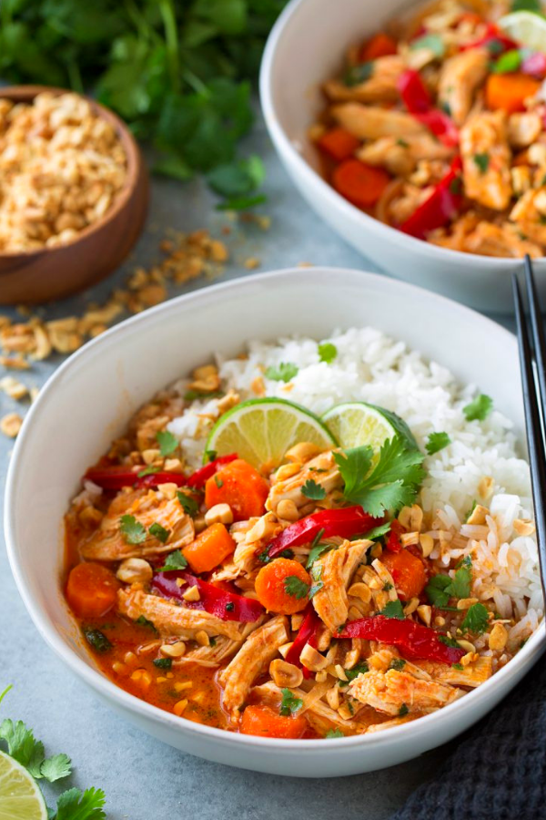 Slow Cooker Thai Chicken Curry