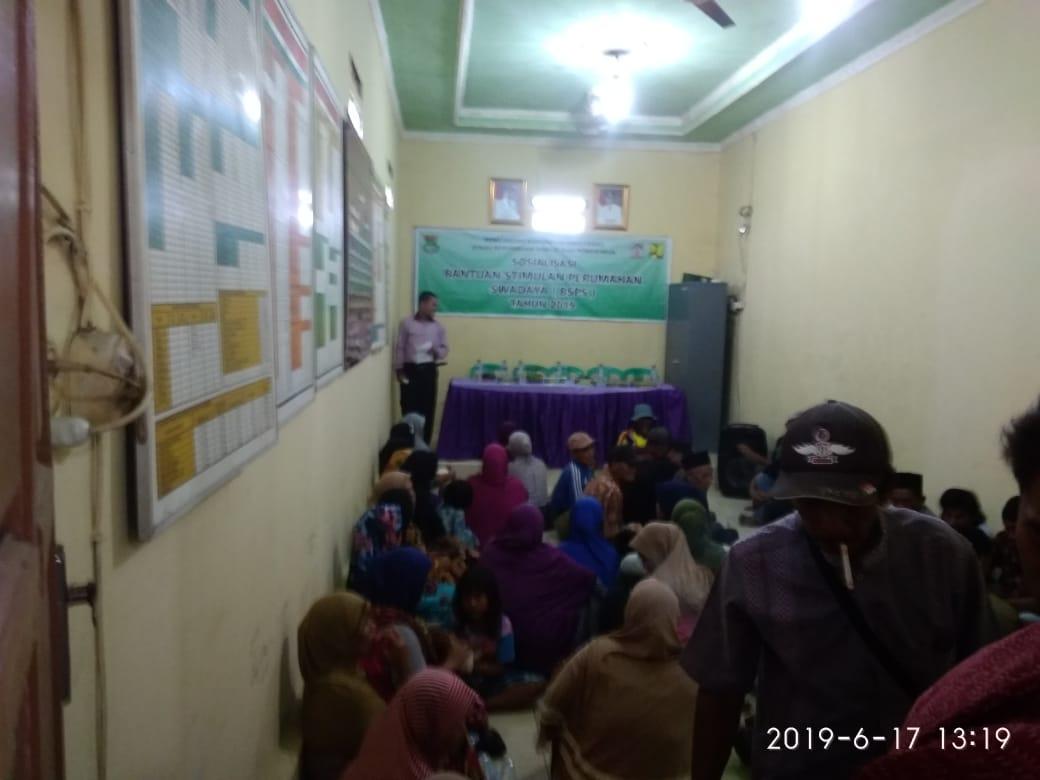 Desa Gintung Adakan Sosialisasi BSPS, Pada Akhir Juni 50 Rumah Akan Di Bedah
