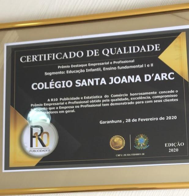 Colégio Santa Joana Darc, seriedade e comprometimento no que se refere à educação.