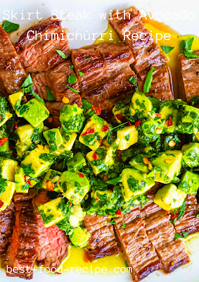 Skirt Steak with Avocado Chimichùrri Recipe
