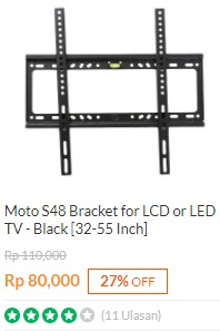 Bracket TV Moto S48 LCD / LED 32-55 Inchi