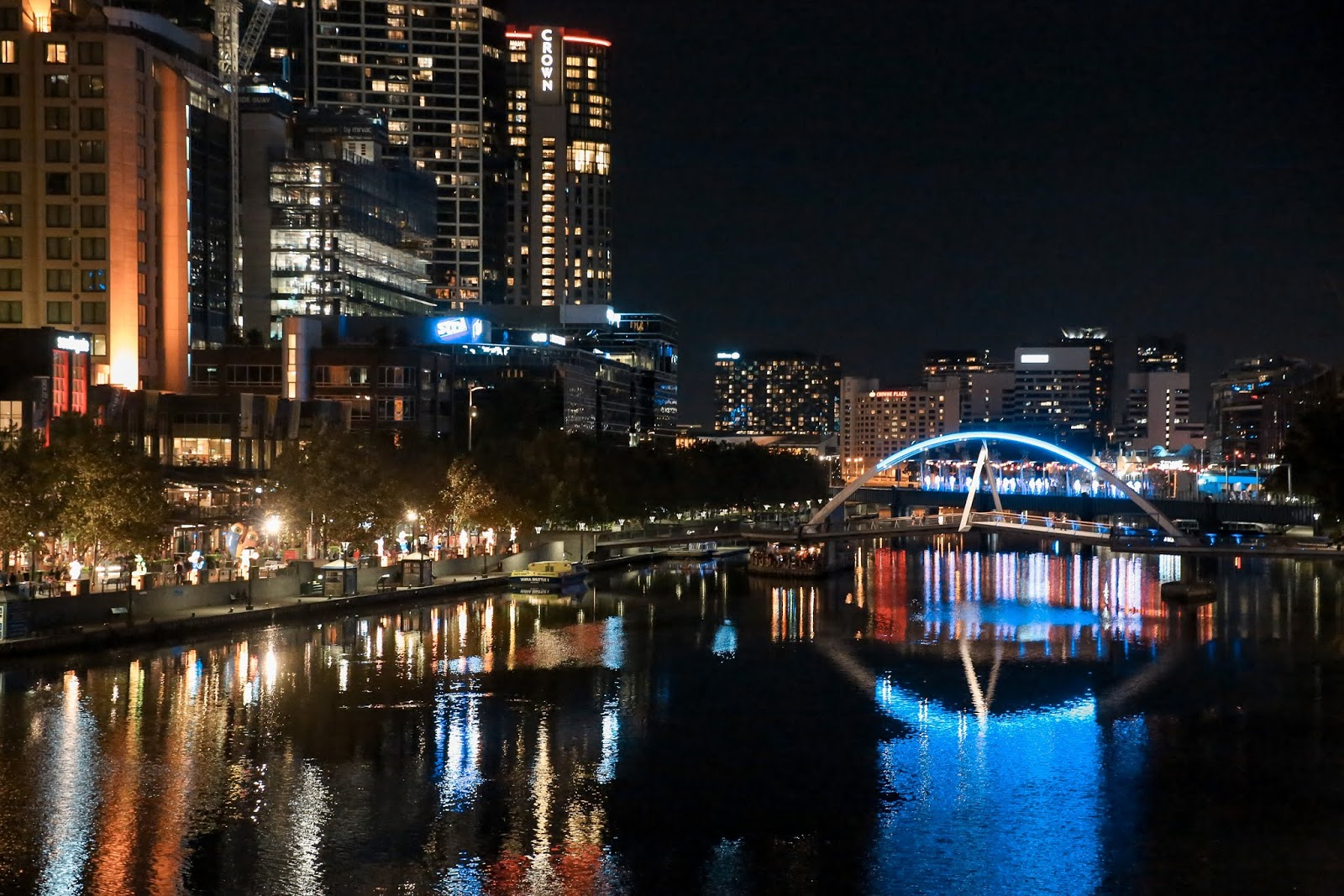 Night Skyline of Melbourne from Yarra River