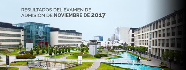 RESULTADOS Examen de Escolares Universidad de Lima 19 noviembre 2017