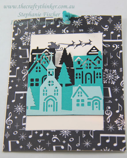 #thecraftythinker, #christmascard, #stampinup, #cardmaking, Christmas card, Slider Pop-Up Money Holder, Hometown Greetings, Stampin' Up Demonstrator, Stephanie Fischer, Sydney NSW