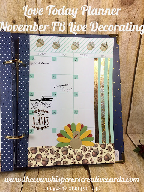 Love Today Planner, Facebook Live, Stamp, Stampin UP, Card, Create, Decorate, Planner