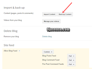 How to Backup Blogspot