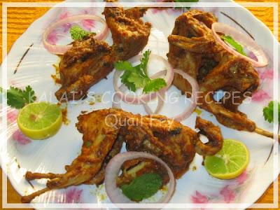 Mint Flavoured Quail Fry / Pudina Kaadai Varuval