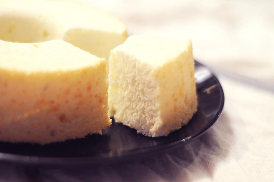 檸檬天使蛋糕 Lemon angel cake | 週末食光 Baking weekend