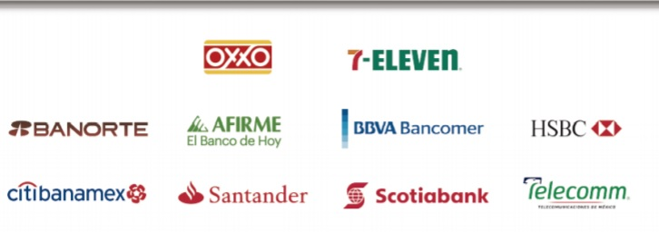 Logotipos de Instituciones Bancarias en Mexico para recibir pagos
