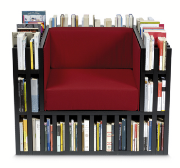 La Bibliochaise  :  book shelf book case storage chair