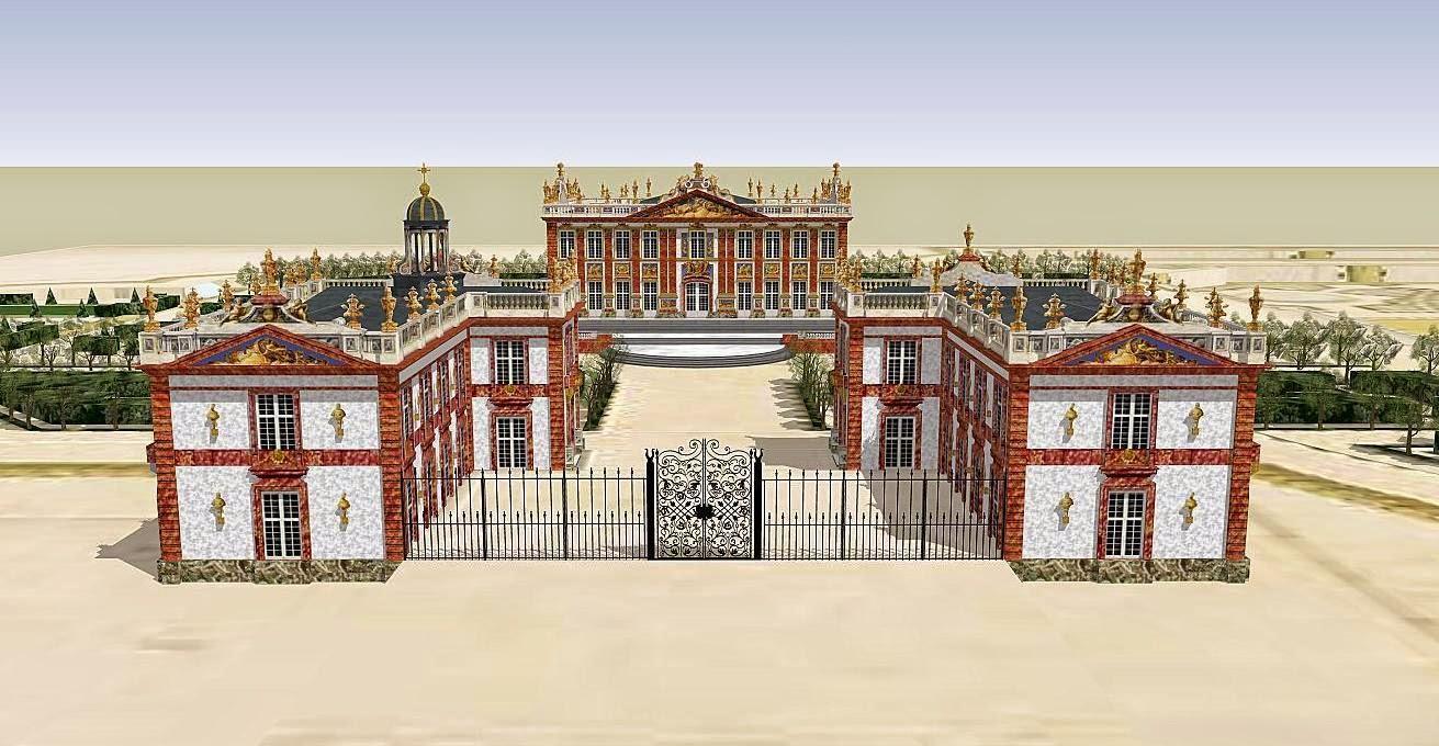 Le Bâtiment: Descriptif du Château de Marly