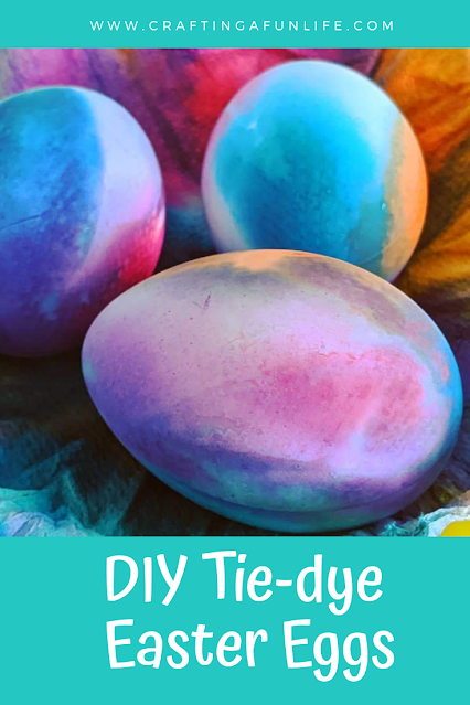 Easy to Make Tie-Dye Easter Eggs Using Paper Towels for Kids