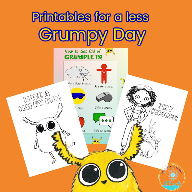 Printables to help kids on a grumpy day
