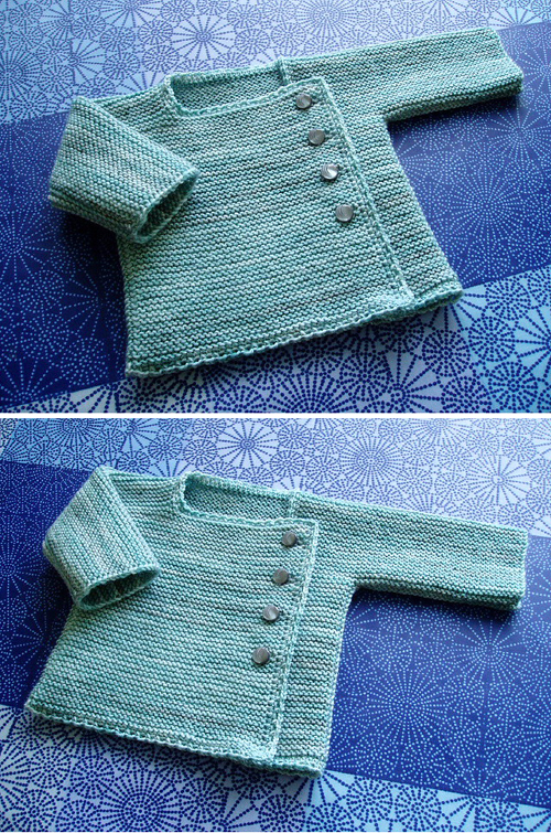 Garter Stitch Wrap Top - Knitting Pattern