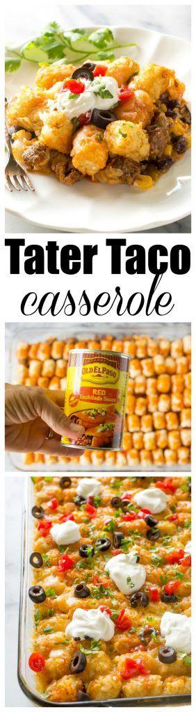 TATER TACO CASSEROLE