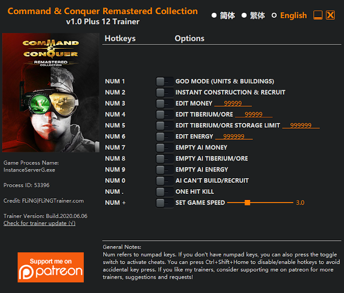 Command & Conquer Remastered +12 Trainer