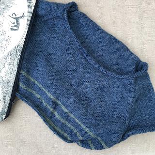 Knitted jumper work in progress