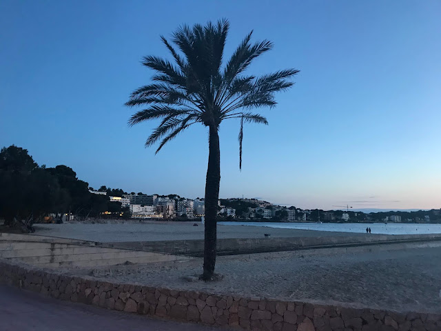 sunset over the beach in Santa Ponsa Majorca 2018