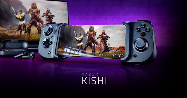 RAZER KISHI UNIVERSAL MOBILE GAMING CONTROLLER FOR ANDROID (XBOX) NOW AVAILABLE