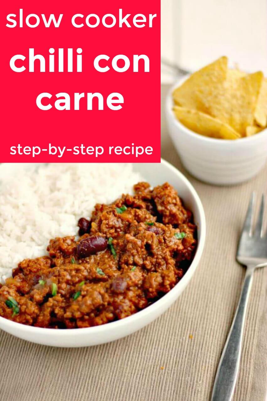 step by step slow cooker chilli