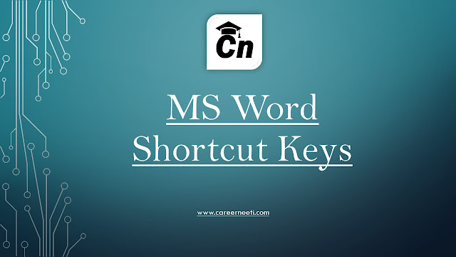 MS Word Shortcut Keys for IBPS, RRB, SSC & Govt. Exams