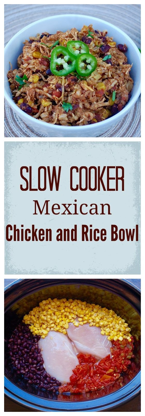 Best Slow Cooker Mexican Chicken and Rice Bowl