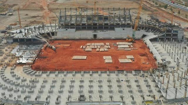 Projets, construction, architecture, stade, olympique, Diamniadio, développement, sport, jeux, foot, place, coupe, LEUKSENEGAL, Dakar, Sénégal, Afrique