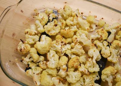 Salade chou-fleur rôti noisettes