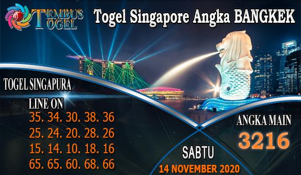 Togel Singapore Angka Bangkek Hari Sabtu 14 November 2020