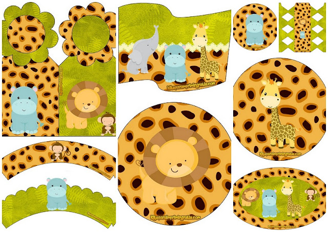 Jungle Babies: Free Printable Mini Kit.