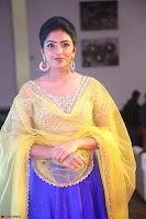 Actress Eesha in Yellow Choli Blue Ghagra at Darshakudu music launch 056.JPG