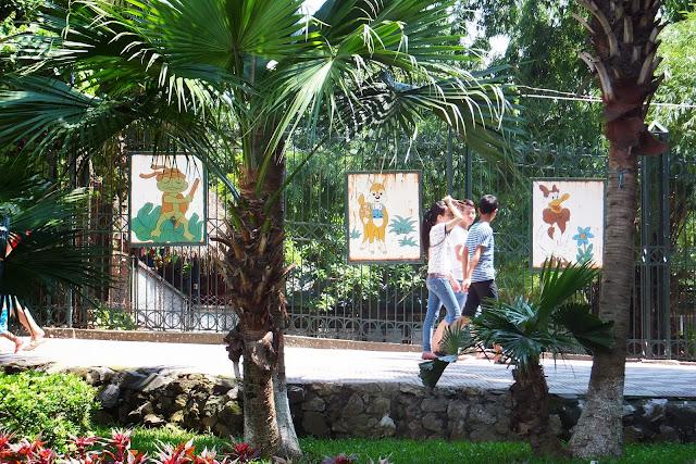 hanoi-zoo ハノイ動物園の看板