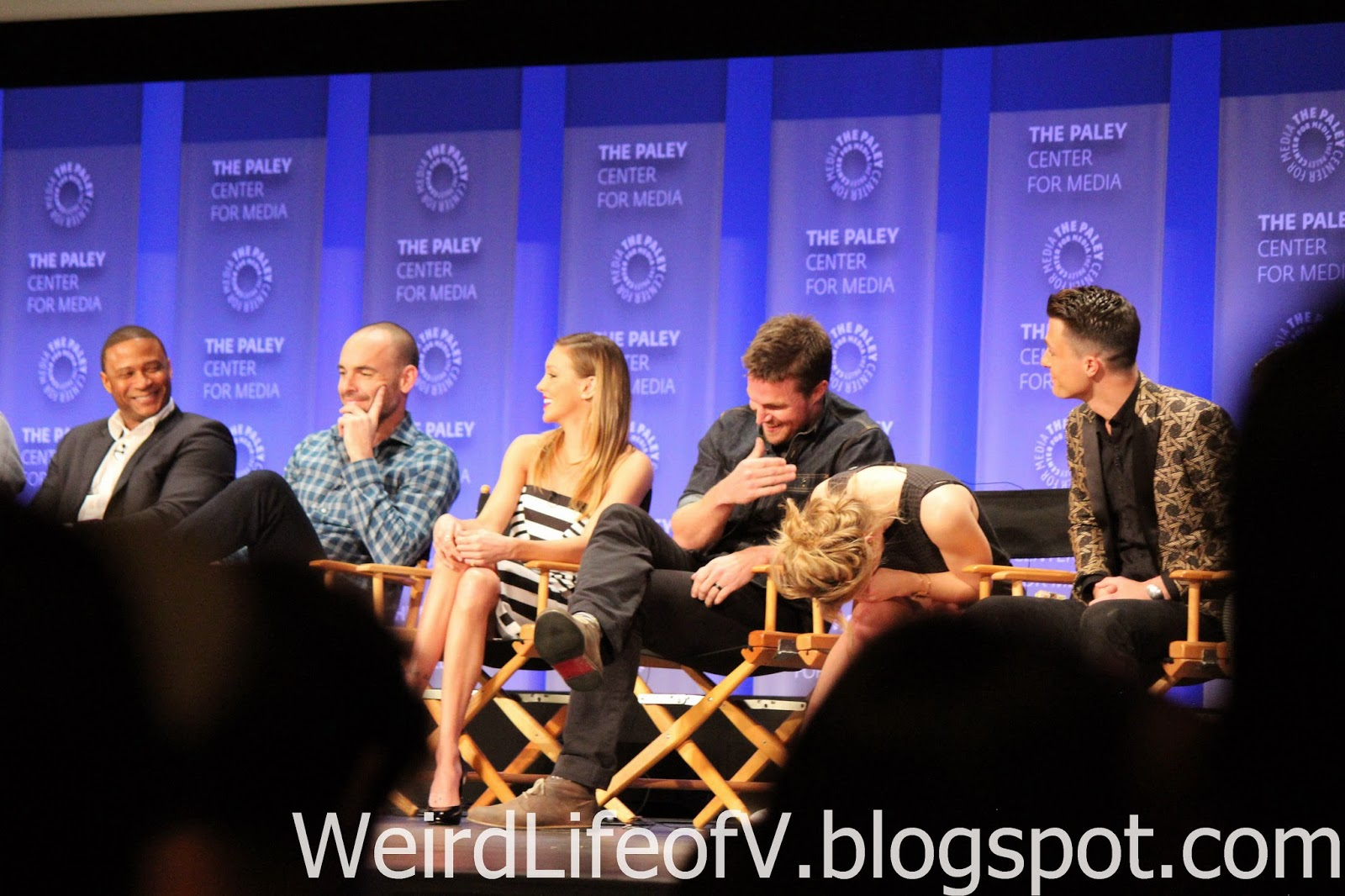 Arrow Cast: David Ramsey, Paul Blackthorne, Katie Cassidy, Stephen Amell, Emily Bett Rickards, and Colton Haynes