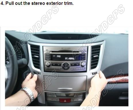how to remove and install a subaru legacy stereo head unit. Black Bedroom Furniture Sets. Home Design Ideas