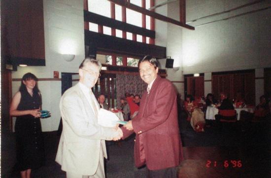 With Professor Ronald M Harden, UK, 1996
