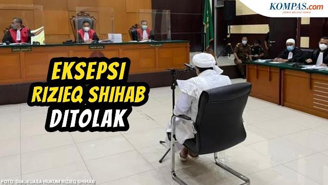 Eksepsi Rizieq Shihab Dalam Kasus Kerumunan Megamendung, Di Tolak Majelis Hakim