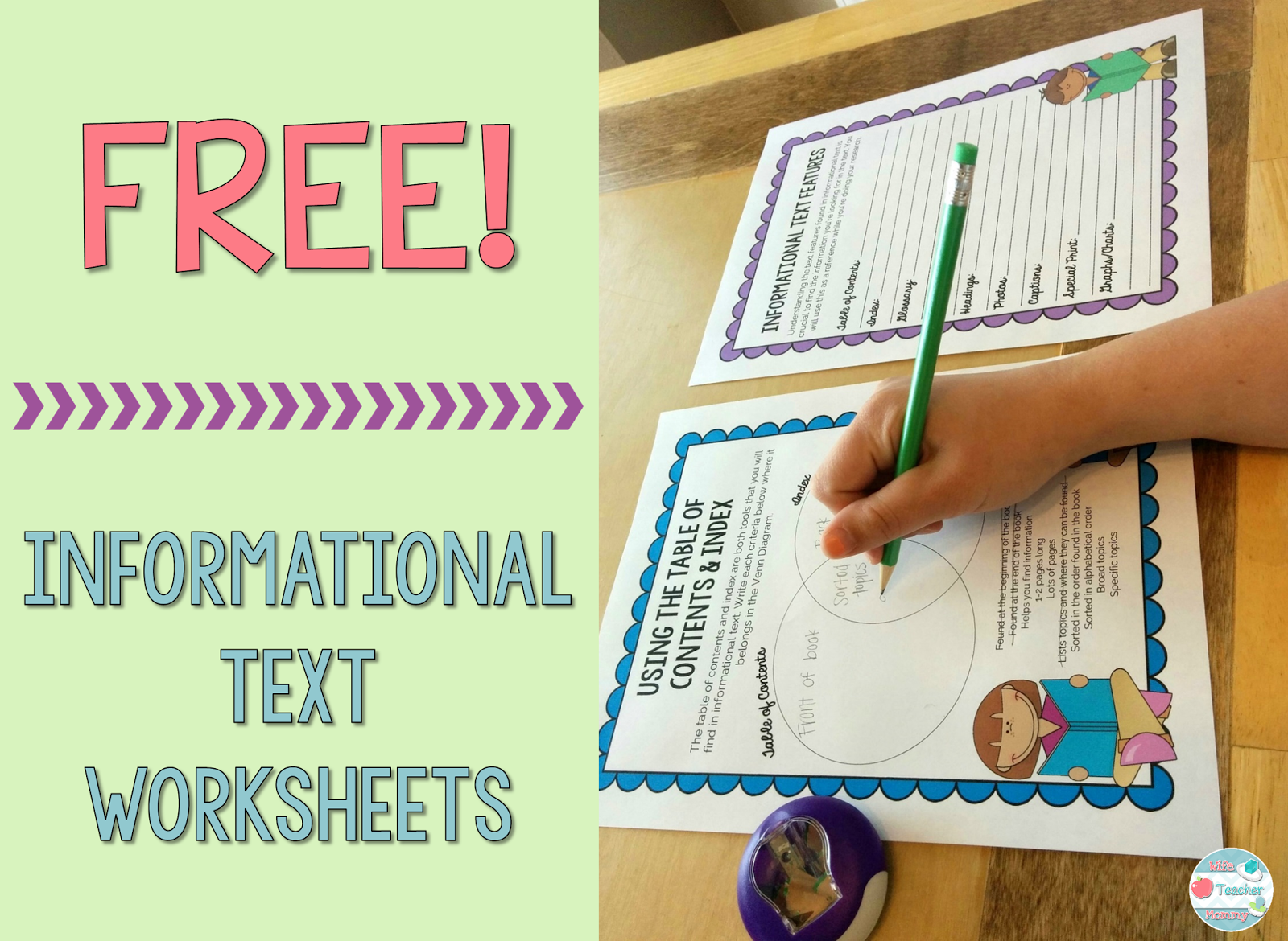 Free Informational Text Worksheets