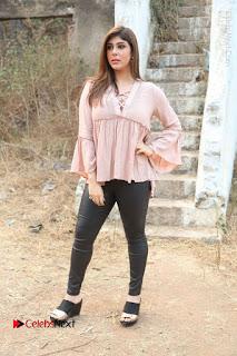Telugu Actress Aditi Singh Stills in Leather Pants at Nenu Kidnap Iyanu Movie Press Meet  0240.JPG