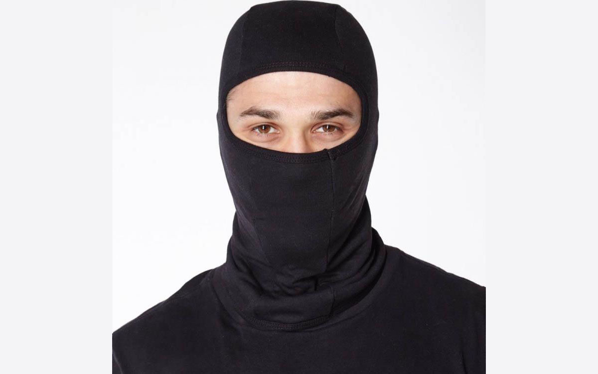 Balaclava helm hitam polos