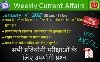 Weekly Current Affairs ( January V , 2021 )