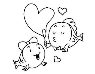 דפי צביעה יום האהבה
