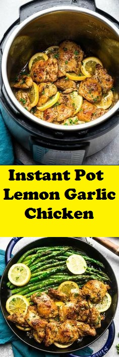 Easy Instant Pot Lemon Garlic Chicken Recipe