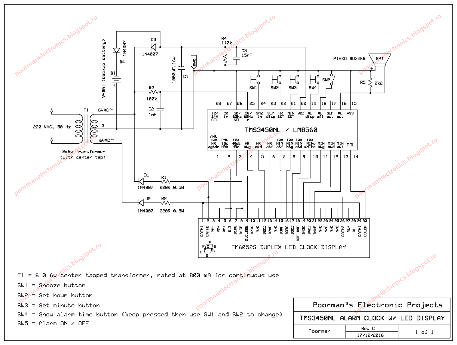 WRG-7069] Clock Schematics